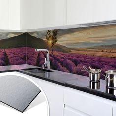 Küchenrückwand - Alu-Dibond-Silber - Holzpaneele 02 | Fliesenspiegel ...