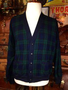 Vintage Pendleton Mackinaw Blue Green Tartan by TheMaineVintage
