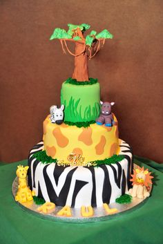 Cake at a Jungle Party #jungle #party