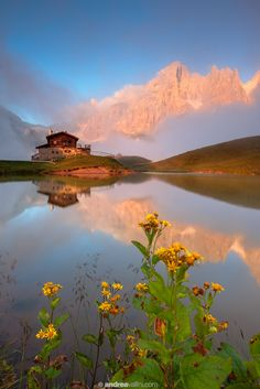 ~~My dream house ~ Baita Segantini and Pale di San Martino during a summer sunset. Dolomiti, Italy by Andrea Vallini~~