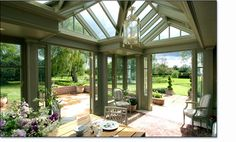 "This is the ""Orangery"" I want to add to the back of our house!"