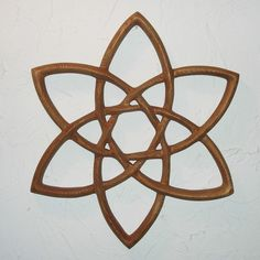 Double Trinity Knot - Wood Carved Celtic Knot -Basic Triquetra