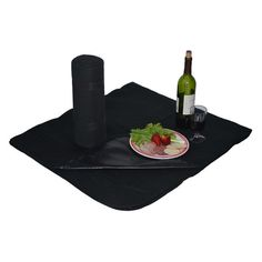Picnic At Ascot Fleece Picnic Blanket with Waterproof Backing - 209-BLK
