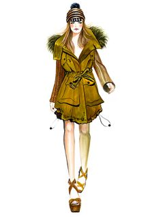 Cara Delevingne for Burberry Prorsum  Spring Summer RTW 2012 Runway Illustrated