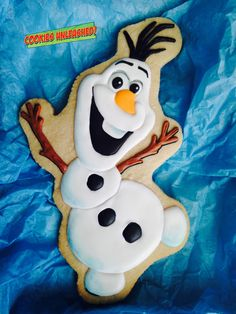 """Olaf from """"Frozen""""Big Cookie 10x6in."""