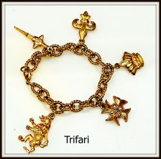 #vogueteam Trifari Gold tone Coat of Arm Charm by Serendipityfindings on Etsy