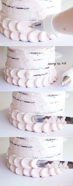 Cake : Four simple but stunning cake decorating techniques!, Easy Cake : Four simple but stunning cake decorating techniques! Easy Cake Decorating, Birthday Cake Decorating, Cake Decorating Tutorials, Cake Birthday, Cupcake Decorating Techniques, Simple Birthday Cakes, Decorating Ideas, Easy Wedding Cakes, Simple Birthday Cake Designs