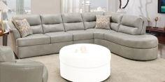 9509 Sectional Sofa - Bonded Leather - Smoke