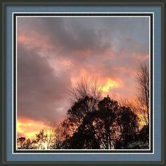 Fall Sky Sunset Framed Print By Stephanie Forrer-harbridge