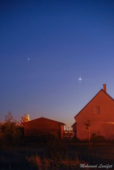 Venus and Jupiter on June 9, 2015 from Mohamed Laaifat Photographies in Normandy, France.