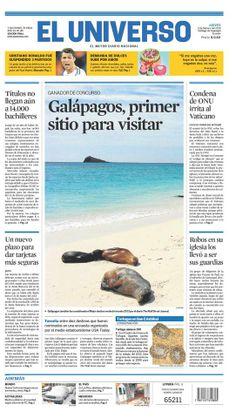 Portada de #DiarioELUNIVERSO del jueves 6 de febrero del 2014. Las #noticias de #Ecuador y el mundo en: www.eluniverso.com