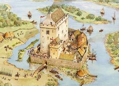 Enniskillen Castle, Co Fermanagh in 1595 by Philip Armstrong