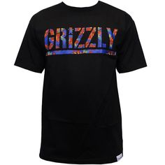 #Grizzly #Griptape #Tropical High Stamp T-Shirt Black