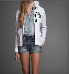 Abercrombie Fitch A F Hollister Jenny Hoodie White M Womans Sweatshirt | eBay