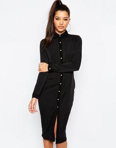 894563fac76 Missguided Pencil Shirt Dress - make shorter for vintage shift dress style    aline for shape