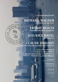 Fons Hickmann M23 - Bayerisches Staatsorchester - 2009, 2010, Bayerische Staatsoper, Music, Musik, Plakate, Poster, Sony