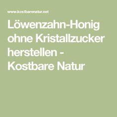Löwenzahn-Honig ohne Kristallzucker herstellen - Kostbare Natur