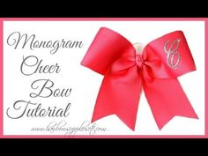 How to Add a Monogram Letter to a Cheer Bow - Hairbow Supplies, Etc. - YouTube