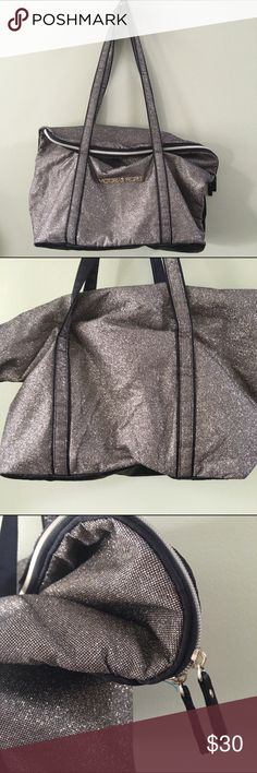 """Victoria's Secret sparkle gold tote 20x16 rare Amazing sparkle tote bag with fold down or slouchy top in excellent used condition from a smoke free home and measures approx 16x20"""" Victoria's Secret Bags Totes"""