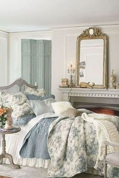 Country Master Bedroom, Country Cottage Bedroom, French Country Bedding, French Country Furniture, French Country Kitchens, French Country Bedrooms, Country House Interior, French Country Farmhouse, French Country Decorating