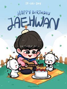 Kim Jaehwan, Handsome Boys, Cute Boys, Chibi, First Love, Happy Birthday, Fan Art, Cartoon, Produce 101