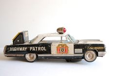 Vintage Buick Highway Patrol Tin Toy  Car by thelittlebiker, €30.00