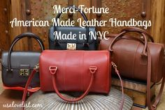 American Made Handbags by Merci-Fortune