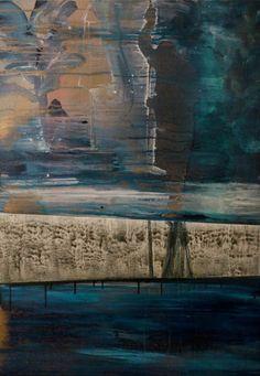 KRISTÍNA MÉSÁROŠ _ MEMORY OF THE MAN  AT THE POOL  100X70 CM  AKRYL NA PLÁTNE | ACRYLIC ON CANVAS  2013