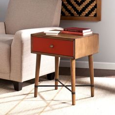 Norwich Accent Table, Red