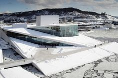 Norwegian National Opera and Ballet in Oslo by Snøhetta