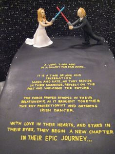 Star Wars wedding cake.  I love this !