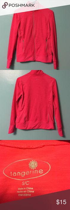 Athletic Zip Up New Never Worn. Got It For Christmas. No Tags. 88% Polyester 12% Spandex. Tangerine Tops Sweatshirts & Hoodies