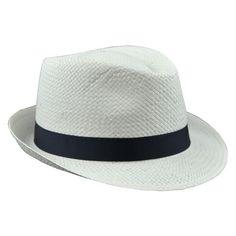 STYLISH WHITE PANAMA STRAW HAT