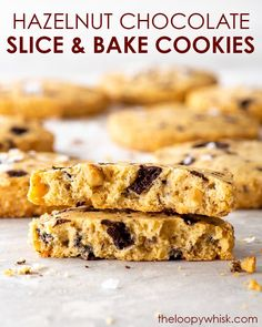 These slice and bake eggless cookies are easy to make, require no fancy equipment and have a wonderful buttery melt-in-the-mouth texture. Chocolate Slice, Chocolate Cookie Recipes, Easy Cookie Recipes, Chocolate Hazelnut, Chocolate Cookies, Free Recipes, Best Gluten Free Desserts, Healthy Dessert Recipes, Delicious Desserts
