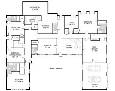 Ranch Style House Plans - 2539 Square Foot Home, 1 Story, 3 ...