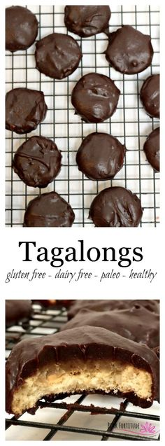 Back in the day, I counted the moments until Girl Scout cookies arrived. Thin Mints were my jam... but Tagalongs were my kryptonite. If you enjoy the peanut buttery and chocolate goodness as much as I do, you will love this grown up version which is gluten free, dairy free, paleo, and relatively healthy for you!