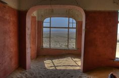 Urban decay - Kolmanskop is a ghost town in southern Namibia. Once a German mining town, it is now being reclaimed by the desert sands.