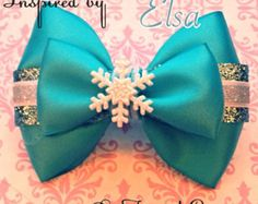 Browse unique items from FangirlCreation on Etsy, a global marketplace of handmade, vintage and creative goods. Princess Hair Bows, Girl Hair Bows, Girls Bows, Princess Tiana, Ribbon Hair, Ribbon Bows, Ribbon Flower, How To Make Hair, How To Make Bows