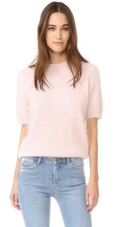 ANINE BING Short Sleeve Angora Sweater | SHOPBOP