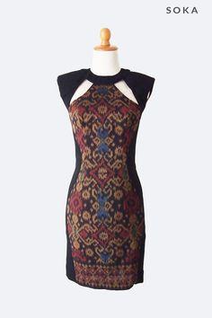 Tribal Pattern Combination Dress   Online shop for women's ...