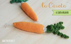Schema gratuito della carota amigurumi.