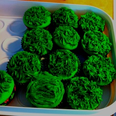 Green cupcakes for St. Patricks Day!
