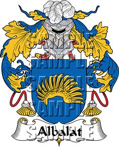 Albalat Family Crest apparel, Albalat Coat of Arms gifts