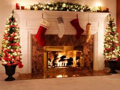 We can sit by the fire :) (this isn't our actual fireplace)