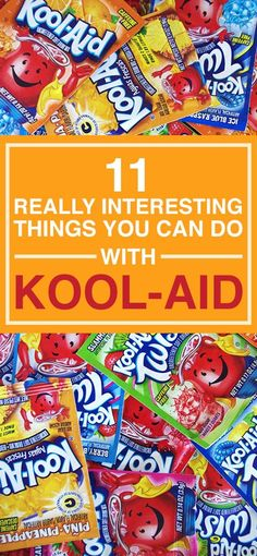 We didn't know that the delicious drink Kool-Aid is good for things other than a refreshing drink. It turns out that you can make… Refreshing Drinks, Yummy Drinks, Wind Chimes Craft, Homemade Cleaning Products, Kids Corner, Summer Fun, Diy Gifts, Helpful Hints, Tips