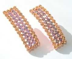 Vintage 1980s Earrings  Rose Gold with Peach and by SwankyJewels, €23.00