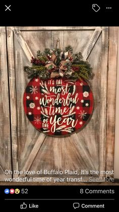 Christmas Signs Wood, Christmas Door, Country Christmas, Winter Christmas, Christmas Wreaths, Christmas Decorations, Christmas Ornaments, Xmas, Christmas Time Is Here