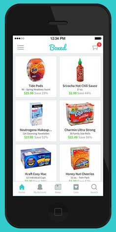 The Boxed app is a grocery delivery service with wholesale club prices (and sizes).