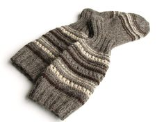 High Hand Knitted Thick Openwork Socks  100 Natural by milleta, €43.00