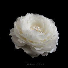 Silk Peony Bridal Headpiece, Bridal Hair Flower, Wedding Hair Flower Wedding Flower Comb, Wedding Bridal Hair Accessory, Freshwater Pearl